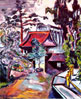 Painting of the entrance to the Japanese Tea Garden