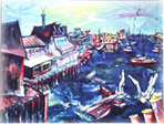 Painting of Monterey Harbor